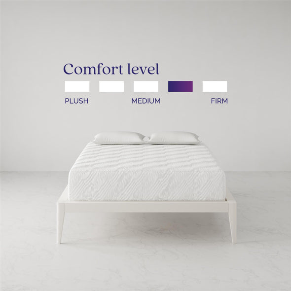 Memoir 12 Inch Memory Foam Mattress - White - Full