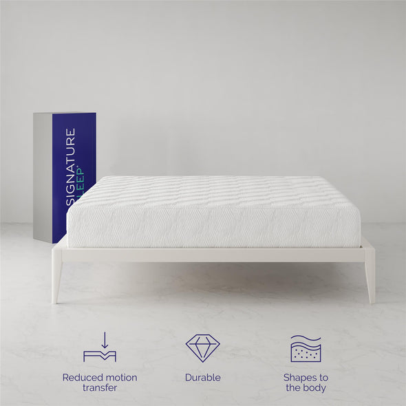 Memoir 12 Inch Memory Foam Mattress - White - King
