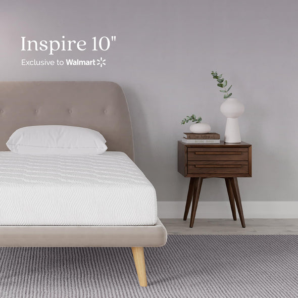 Gold Inspire 10 Inch Memory Foam Mattress - White - Twin