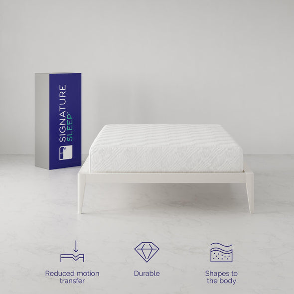 Gold Inspire 10 Inch Memory Foam Mattress - White - Full