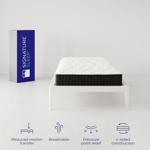 "Signature Sleep Contour Comfort 10"" Independently Encased Coil Mattress - White - Twin"