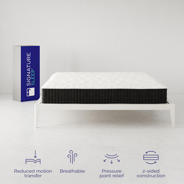 "Signature Sleep Contour Comfort 12"" Independently Encased Coil Mattress - White - King"
