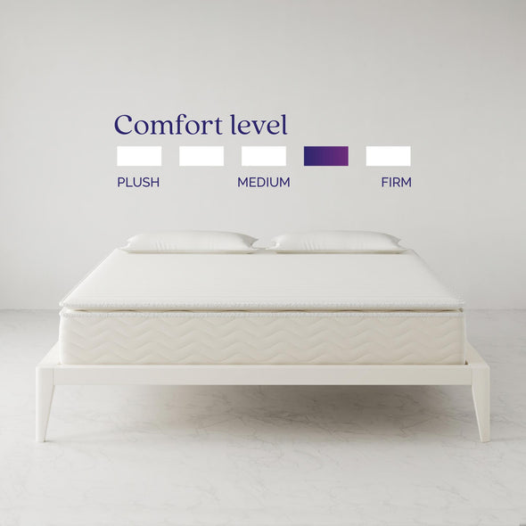 "Contour Hybrid 12"" Independently Encased Coil Memory Foam Mattress - White - King"