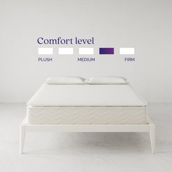 "Contour Hybrid 12"" Independently Encased Coil Memory Foam Mattress - White - Queen"