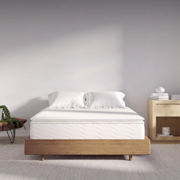 "Contour Hybrid 12"" Independently Encased Coil Memory Foam Mattress - White - Full"