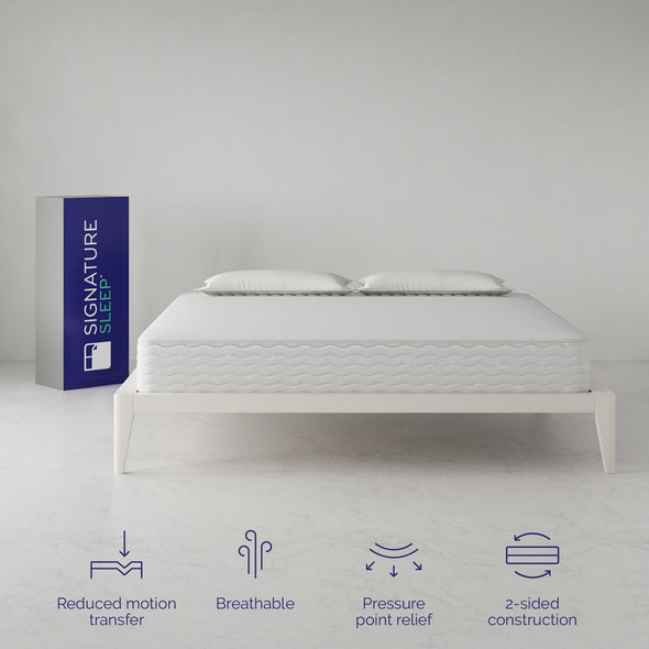 Contour 10 Inch Reversible Independently Encased Coil Mattress - White - King