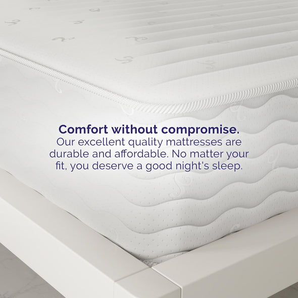 Contour 10 Inch Reversible Independently Encased Coil Mattress - White - Queen