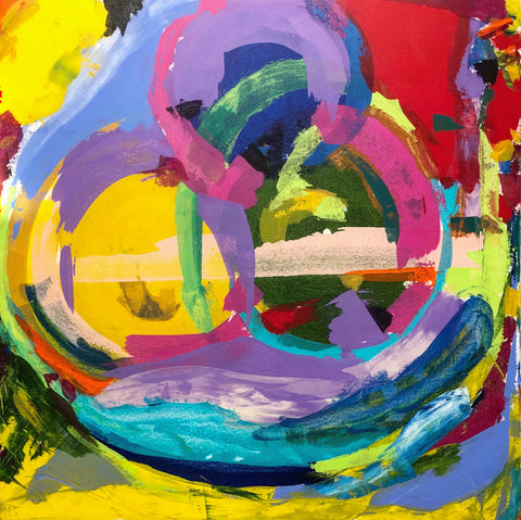 Circles Abstract  - 46 x 46