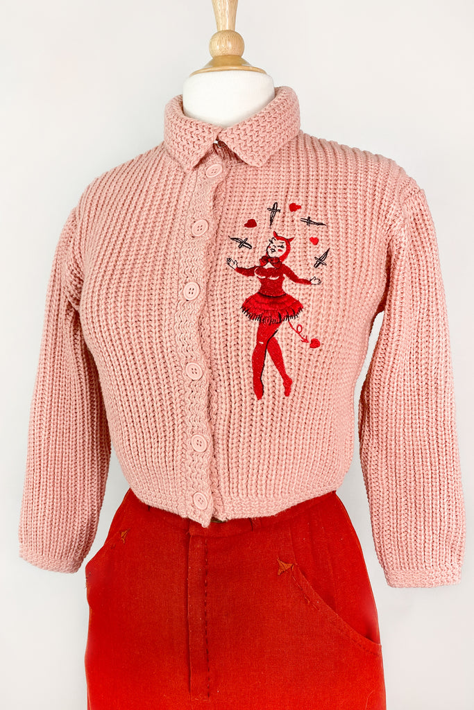 Dagger Devil Sweater in Peach