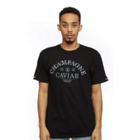 Crooks & Castles Men's Knit Crew T-Shirt - Champagne and Caviar