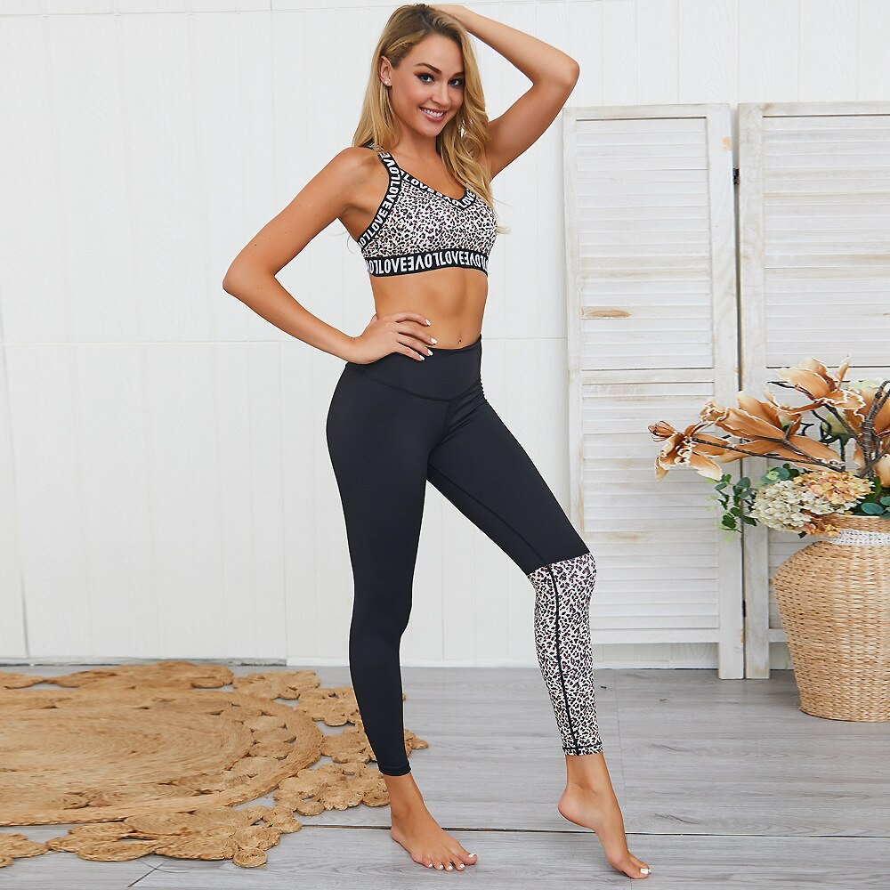 Leopard Print 2 Piece Activewear set