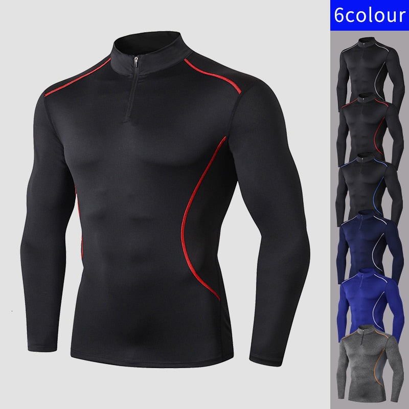 Long Sleeves T-shirt for Men Fitness Workout GYM Running