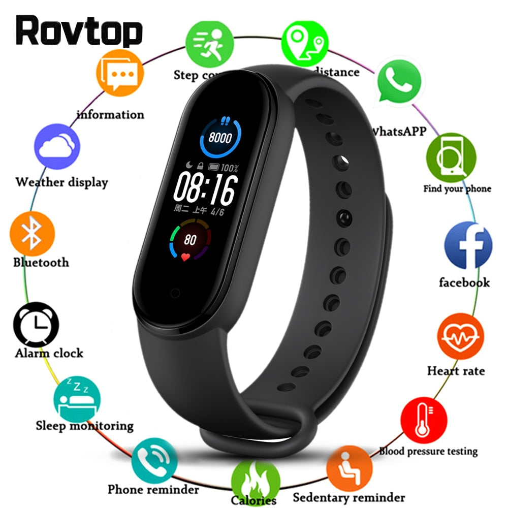 Smart Watch Fitness Tracker, Heart Rate Monitor, Blood Pressure, for IOS or Android