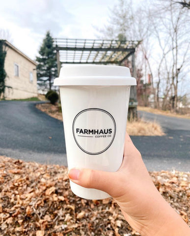 White Ceramic To-go Cup