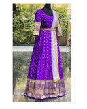 CAPTIVATING VIOLET COLORED WOVEN FANCY ORGANZA GOWN WITH DUPATTA