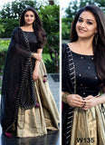 Gold And Black Lehenga Choli With Moti Work Dupatta