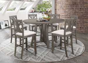 Open image in slideshow, Athens Collection - Athens 5-piece Counter Height Dining Set Barn Grey