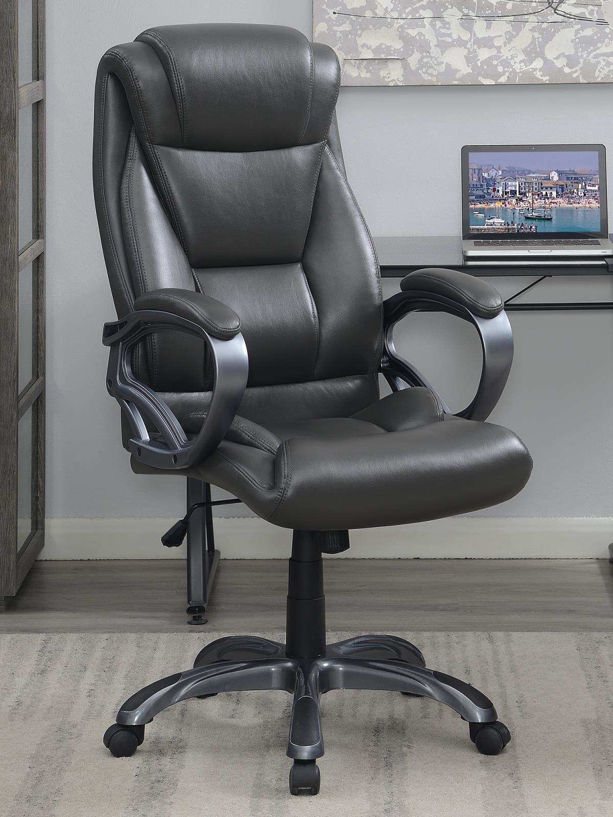 Grey - Upholstered High Back Office Chair Grey