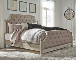 Open image in slideshow, Falkhurst Upholstered Panel Bed