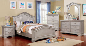 CLAUDIA - 4 Pc. Twin Bedroom Set - Silver