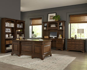 Hartshill Collection - Hartshill Credenza With Hutch Burnished Oak