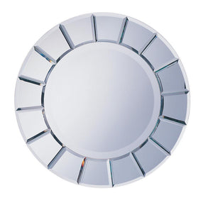 Open image in slideshow, Round Sun-shaped Mirror Silver
