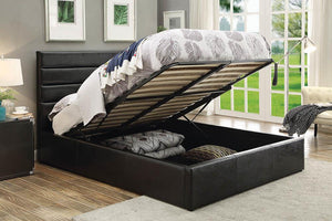 Riverbend Upholstered Bed - Black - Riverbend Full Upholstered Storage Bed Black
