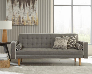 Open image in slideshow, Grey - Lassen Tufted Upholstered Sofa Bed Grey