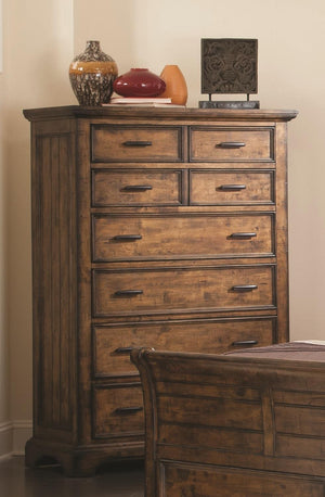 Open image in slideshow, Elk Grove Collection - Elk Grove 7-drawer Chest Vintage Bourbon