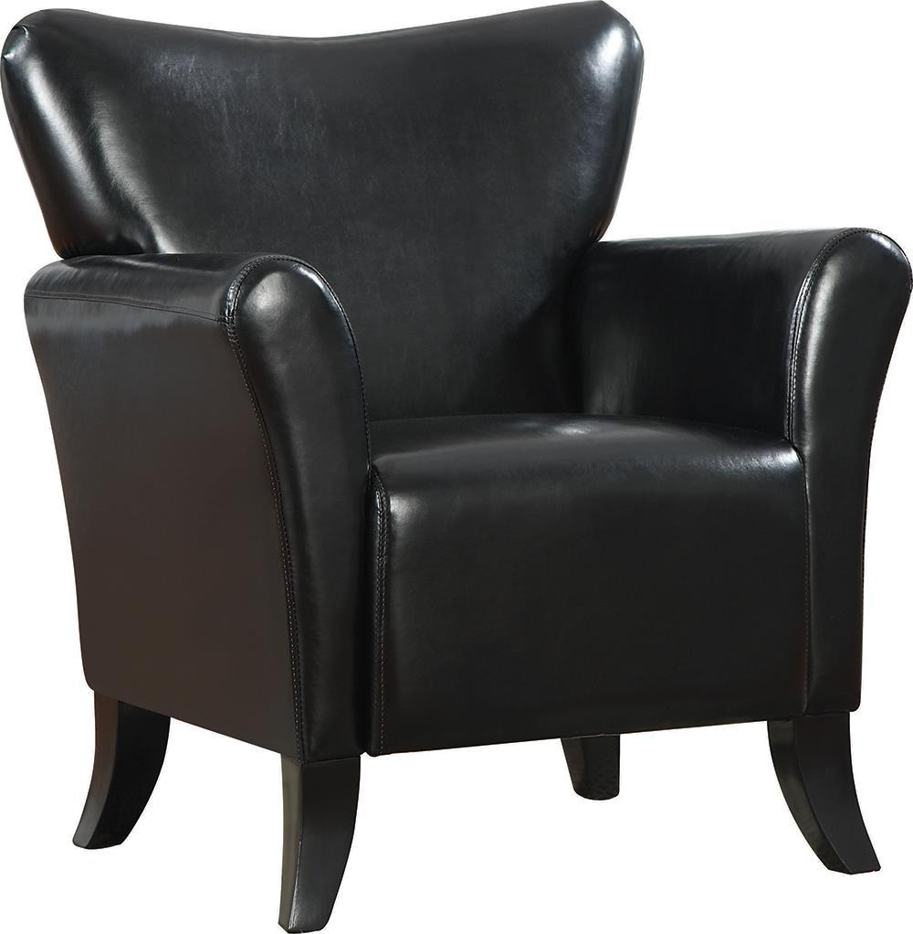 Accents : Chairs - Black - Upholstered Flared Arm Accent Chair Black