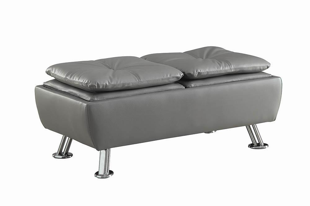 Dilleston Collection - Grey - Dilleston Rectangular Storage Ottoman Grey