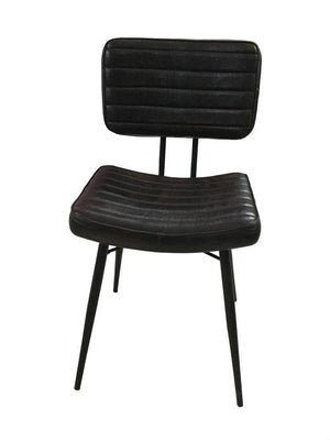 Espresso - Partridge Padded Side Chairs Espresso And Black (Set of 2)