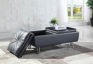 Open image in slideshow, Dilleston Collection - Grey - Dilleston Rectangular Storage Ottoman Grey