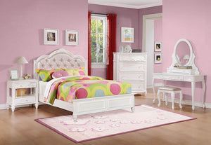 Open image in slideshow, Caroline Collection - Pink - Caroline Full Upholstered Storage Bed Pink And White