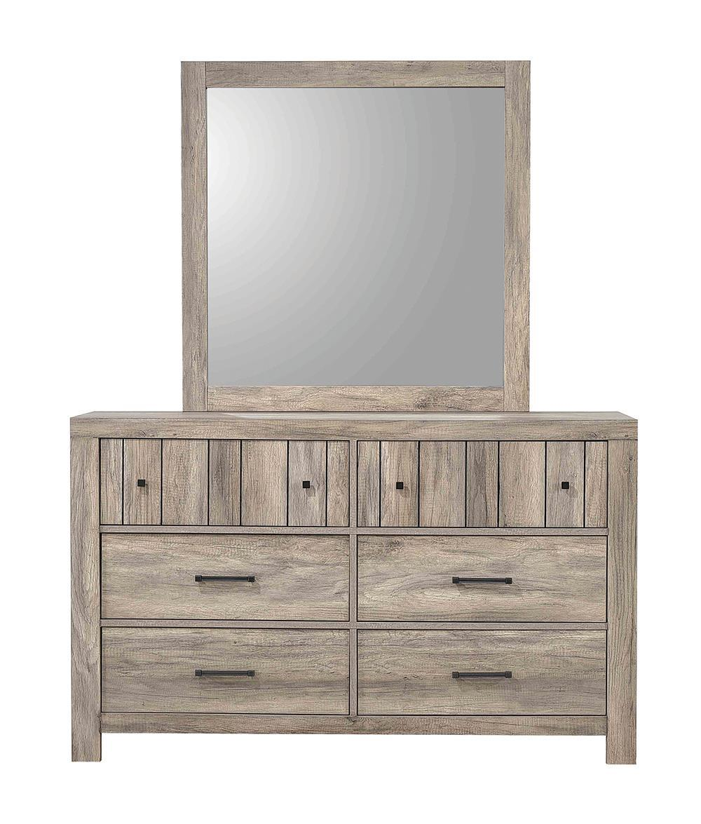 Adelaide Collection - Adelaide Rectangular Mirror Rustic Oak