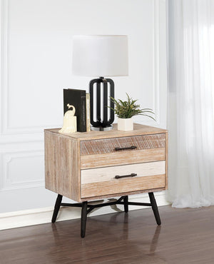 Open image in slideshow, Marlow Collection - Marlow 2-drawer Nightstand Rough Sawn Multi