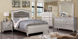 Open image in slideshow, ARISTON - 4 Pc. Full Bedroom Set - Silver