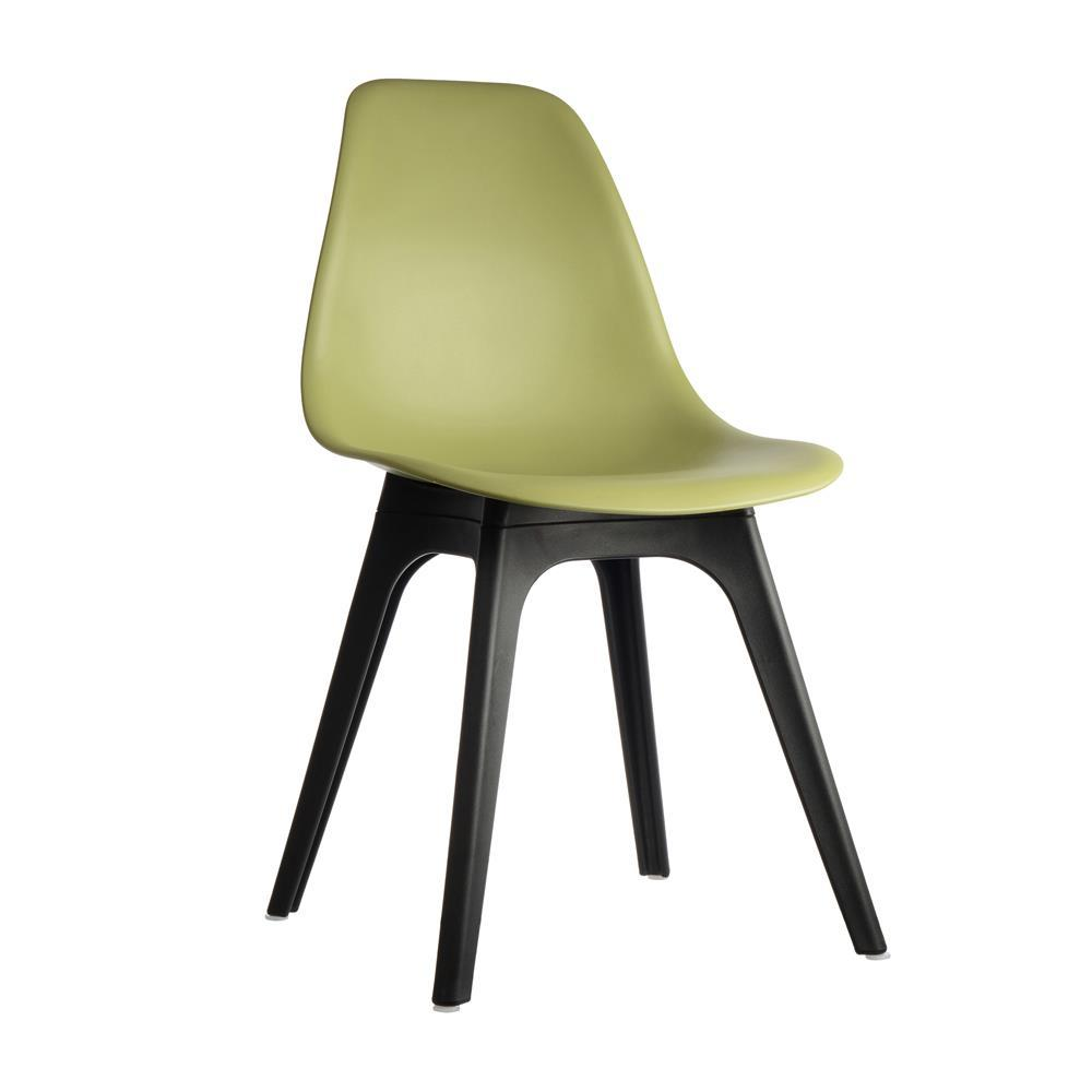 Plastic Side Chairs Lime (Set of 4)