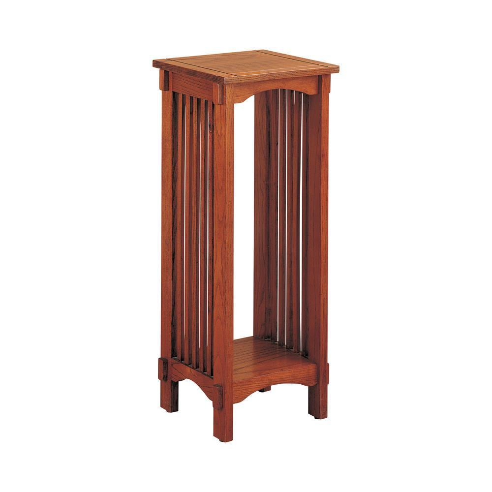 1-shelf Square Accent Table Warm Brown