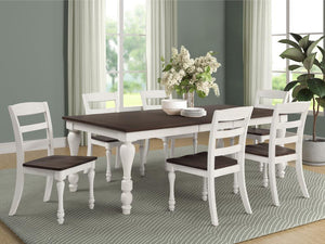 Madelyn Collection - Madelyn 5-piece Rectangle Dining Set Dark Cocoa And Coastal White