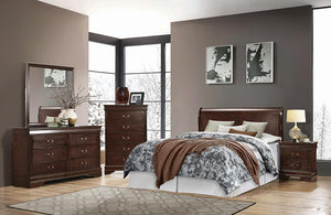 Open image in slideshow, Louis Philippe Collection - Louis Philippe Full Panel Sleigh Bed Cappuccino