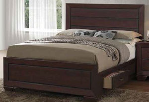 Open image in slideshow, Fenbrook Collection - Fenbrook Transitional Dark Cocoa California King Bed Box Two
