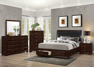 Open image in slideshow, Jaxson Collection - Jaxson Transitional Cappuccino California King Bed Box Three