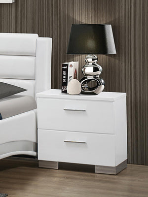 Open image in slideshow, Felicity Collection - Felicity Contemporary Two-drawer Nightstand