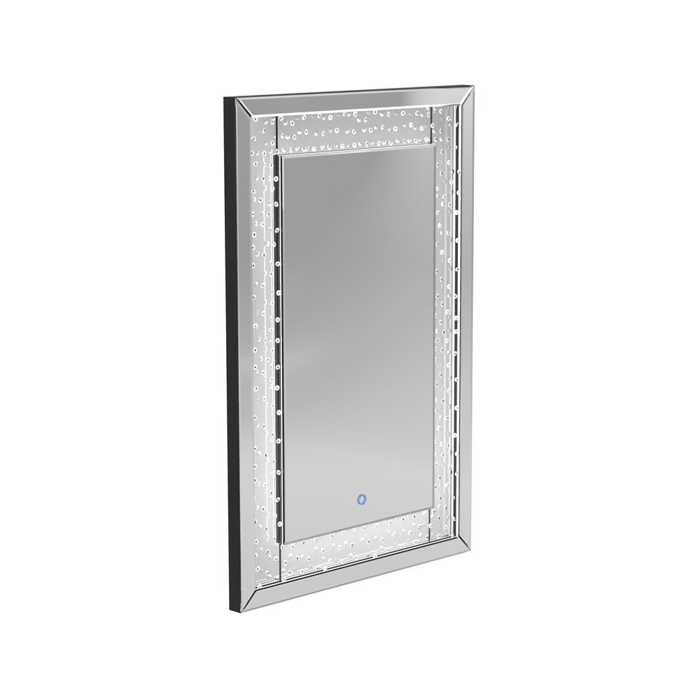 Led Lighting Frame Mirror Silver