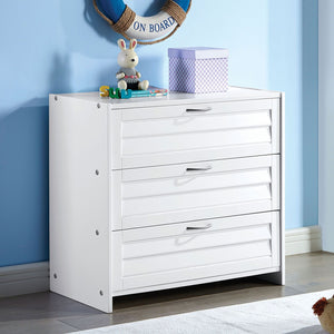 Open image in slideshow, Abigail - 3-Drawer Chest - White