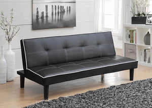 Open image in slideshow, Living Room : Sofa Beds - Black - Katrina Tufted Upholstered Sofa Bed Black