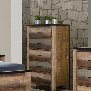 Sembene Bedroom Collection - Sembene 5-drawer Chest Antique Multi-color