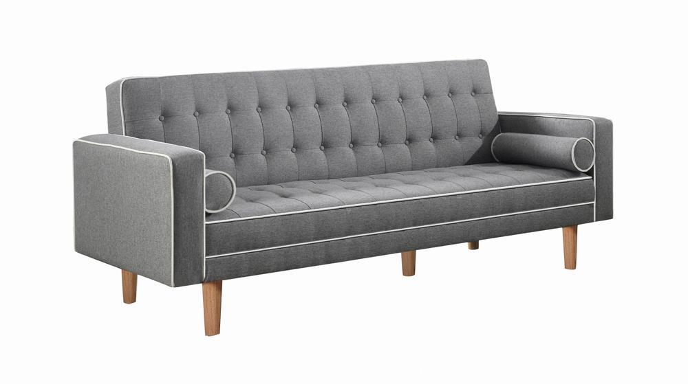 Grey - Lassen Tufted Upholstered Sofa Bed Grey