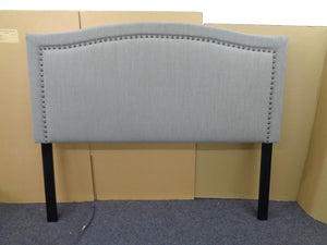 Hamden Upholstered Bed - Mineral - Hamden Eastern King Upholstered Panel Bed Mineral